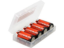 Titanium Innovations Battery Case - Holds 2 x 18650 or 4 x CR123A