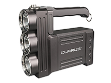 Klarus RS80GT Rechargeable LED Searchlight - 3 x CREE XHP70.2 P2 - 10,000 Lumens - Includes Li-ion Battery Pack
