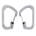Nite Ize SlideLock Carabiner - Stainless Steel with Slide-to-Lock Design - #3 - Black (CSL3-01-R6) or Stainless (CSL3-11-R6)