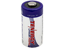 Tenergy Propel 30214 CR123A 1400mAh 3V High Energy 1.5A Lithium (LiMnO2) Button Top Photo Battery - Bulk