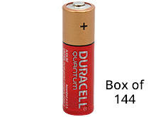 Duracell Quantum QU1500-BKD (144PK) AA 1.5V Alkaline Button Top Batteries - Contractor Pack of 144