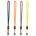 Nite Ize BetterBand 5 Inch Adjustable Stretch Bands with KnotBone Cord Lock - 2 Pack - Black, Bright Orange, Foliage Green or Neon Yellow