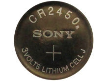 Sony CR2450 610mAh 3V Lithium (LiMnO2) Coin Cell Watch Battery - 1 Piece Tear Strip, Sold Individually