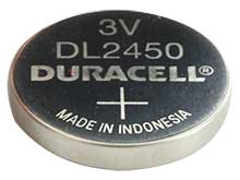 Duracell Duralock DL CR2450 620mAh 3V Lithium (LiMNO2) Watch/Electronic Coin Cell Battery - Bulk