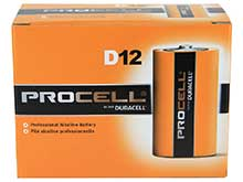Duracell Procell PC1300 (12PK) D-cell 1.5V Alkaline Button Top Batteries - Contractor Pack of 12