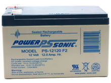 Power-Sonic AGM General Purpose PS-12120 12Ah 12V Rechargeable Sealed Lead Acid (SLA) Battery - F2 Terminal
