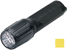 Streamlight 4AA ProPolymer HAZ-LO Safety-Rated Flashlight - 7 x White LEDs - 67 Lumens - Class I Div 1 - Uses 4 x AAs - Black or Yellow - Boxed or Clam Shell