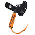 Ultimate Survival Technologies Para Hatchet FS with Paracord Grip and Fire Starter - 8 Feet of Heavy Duty Cord - Nylon Sheath - Orange (20-02227-08)