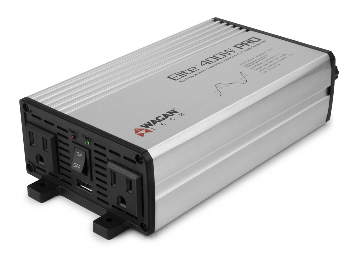 Elite 400W Pure Sine Wave Inverter left side angle