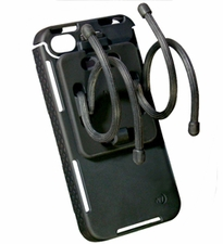 Nite Ize Connect Case and Mobile Mount Combo Pack for iPhone 4 or 4S - Includes Gear Tie Rubber Twist Ties - Black (CNTMM-IP4-01SC)