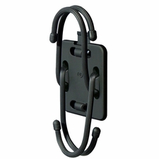 Nite Ize Connect Mobile Mount for Use with Connect Cases - Includes Gear Tie Rubber Twist Ties - Black (CNTMM-08)