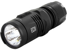 Nitecore Explorer EC11 Flashlight - CREE XM-L2 U2 LED - 900 Lumens - Uses 1 x IMR 18350 or 1 x CR123A