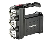JETBeam T8 Professional Outdoor Searchlight - 3 x CREE XP-L LED - 3500 Lumens - Includes Battery Pack