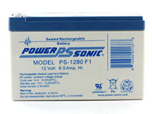 Power-Sonic AGM General Purpose PS-1280 8Ah 12V Rechargeable Sealed Lead Acid (SLA) Battery - F1 or F2 Terminal