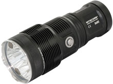 Nitecore Tiny Monster TM15 Flashlight - 3 x CREE XM-L2 LEDs - 2650 Lumens - Uses 4 x 18650s or 8 x CR123As