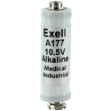 Exell A177 10.5V Alkaline Industrial Battery for Microphones - Replaces Eveready EN177A, Duracell PC177A