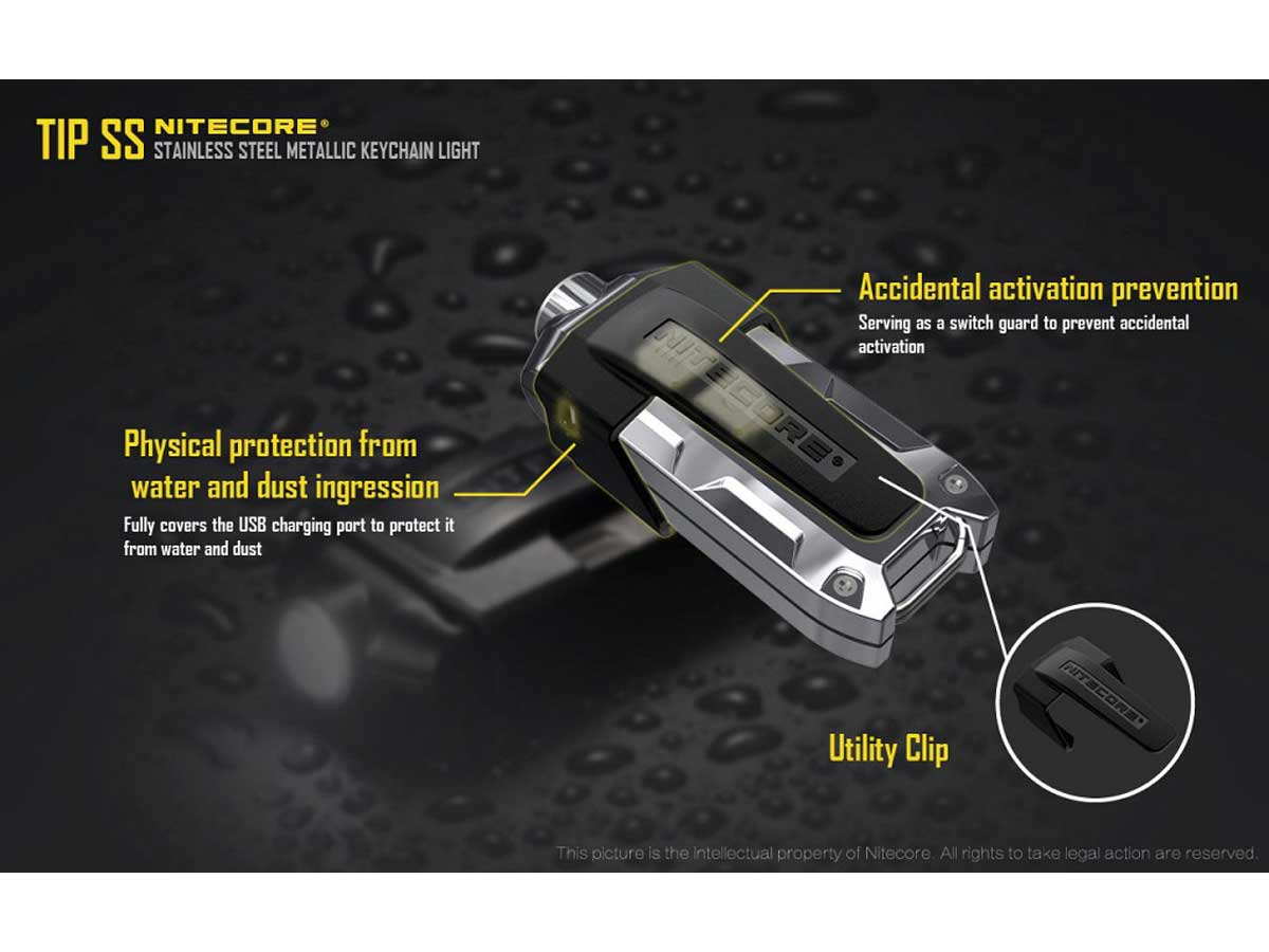 Attachable clip informational slide