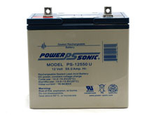 Power-Sonic AGM General Purpose PS-12550 55Ah 12V Rechargeable Sealed Lead Acid (SLA) Battery - U Terminal