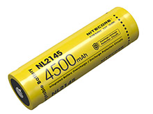 Nitecore NL2145 21700 4500mAh 3.6V 5A Protected Lithium Ion (Li-ion) Button Top Battery - Retail Card