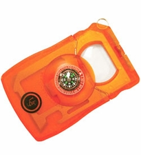 Ultimate Survival Technologies Survival Card Multi-Tool - 14 Total Tools - Hard Plastic Case - Orange (20-190-780-334)