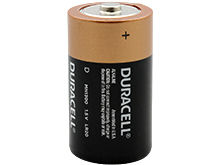 Duracell Coppertop Duralock MN1300 D-cell 1.5V Alkaline Button Top Battery - Made in the USA - Contractor Pack - Priced Per Cell