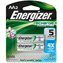 Energizer Recharge NH15-BP-2 AA 2300mAh 1.2V Nickel Metal Hydride (NiMH) Button Top Batteries - 2 Piece Retail Card