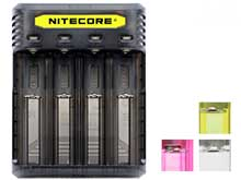 Nitecore Q4 4-Bay Quick Charger for Li-Ion, IMR Batteries - Comes in a Variety of Colors