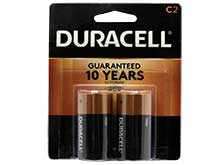 Duracell Coppertop Duralock MN1400-B2 C-cell 1.5V Alkaline Button Top Batteries - 2 Piece Retail Card