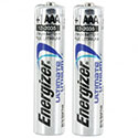 Energizer Ultimate L92 (2SHK) AAA 1250mAh 1.5V High Energy 1.5A Lithium (LiFeS2) Button Top Batteries - 2 Piece Shrink Wrap (200 Shrinks per Case)