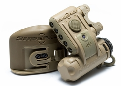 SureFire HL1-B Tactical Helmet Light with 3 x White, 2 x Infrared and 1 x Infrared IFF LEDs - 19.2 Lumens - Includes 1 x CR123A - Desert Tan (HL1-B-TN)