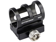 Nitecore GM02 Picatinny Rail Flashlight Mount - Fits Nitecore SRT6, SRT7, MT2C, MT25, MT26, MT40, MH25, and MH40 flashlights