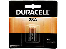 Duracell PX 28A A544 100mAh 6V Alkaline Button Top Medical Battery - Equivalent to 4LR44, 544 - 1 Piece Retail Card