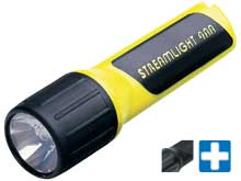 Streamlight 4AA ProPolymer Lux Div 2 Safety-Rated Polymer LED Flashlight - C4 LED - 100 Lumens - Class I Div 2 - Includes 4 x AAs - Yellow or Black