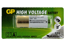 Gold Peak High Voltage A23 12V Alkaline Battery (23A, V23GA, MN21) - 1 Piece Tear Strip, Sold Individually