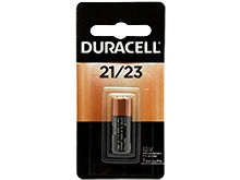 Duracell Security MN21-B1 23 21/23 12V Alkaline Button Top Battery (DL21 DL23  MN21 A23 21/23) - 1 Piece Retail Card