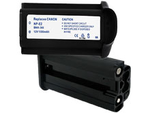 Empire BNH-369 1500mAh 12V Replacement Nickel Metal Hydride (NiMH) Digital Camera Battery Pack for the Canon NP-E2