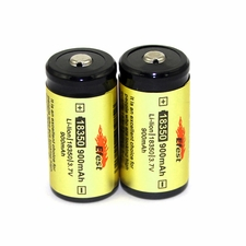 Efest 3712 18350 900mAh 3.7V Unprotected Lithium Ion (Li-ion) Button Top Battery - Boxed