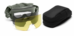 Smith Optics - Outside The Wire Goggles - Foliage Green Frames with Clear Lenses Installed - Gray and Yellow Spare Lenses - Deluxe Kit