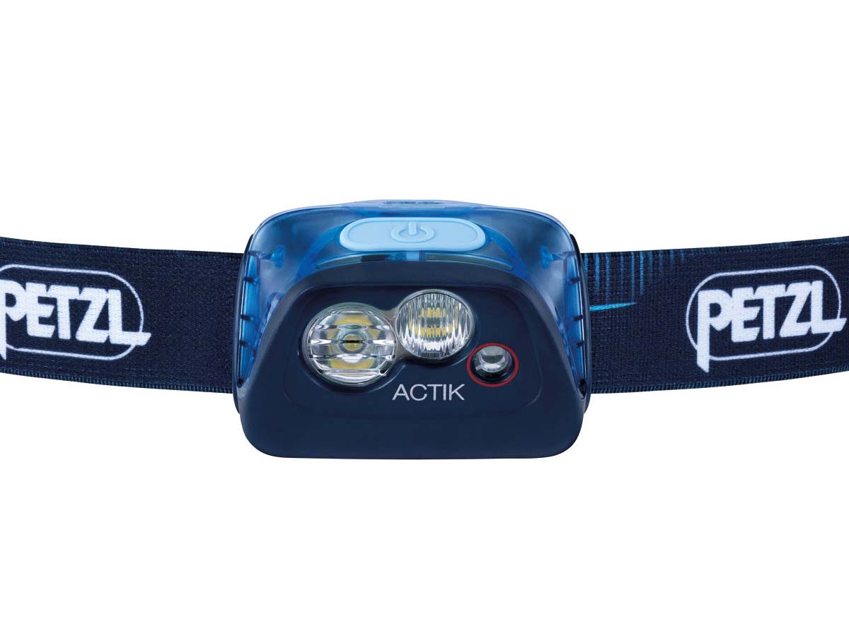 Petzl Actik Headlamp Flashlight Blue