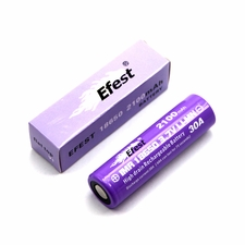 Efest IMR 18650 2100mAh 3.7V Unprotected Lithium Manganese (LiMn2O4) Flat Top (4064) Battery - Boxed