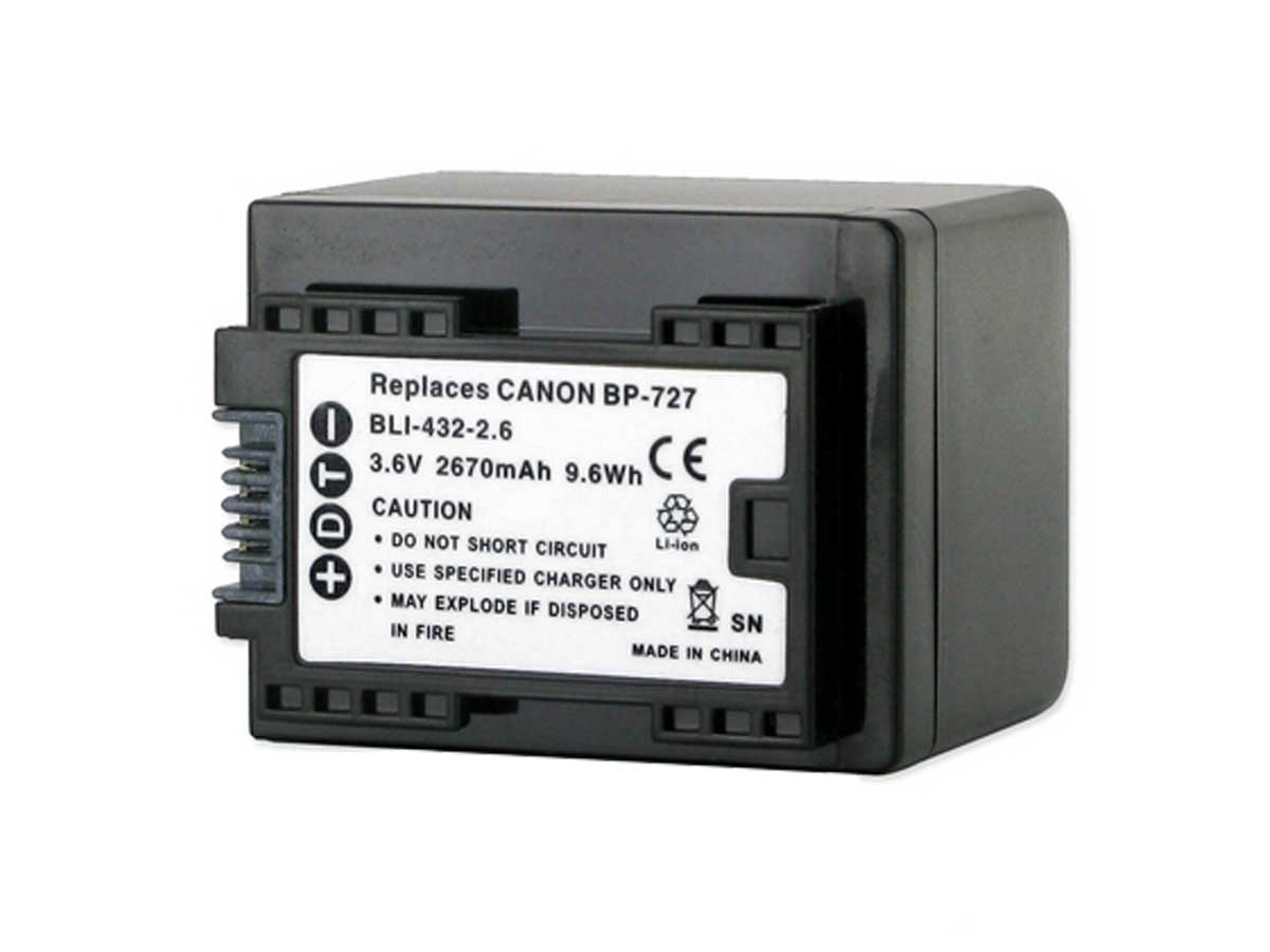 Empire BLI-432-2-6 Replacement Battery for the Canon BP-727 Camera
