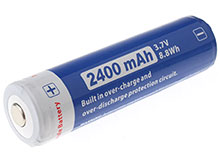 JETBeam JL240 18650 2400mAh 3.7V Protected Lithium Ion (Li-ion) Button Top Battery - Blister Pack