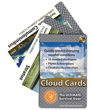 Ultimate Survival Technologies Learn and Live Pocket Guide - Clouds - 11 Informative Cards for Understanding Weather Patterns (20-80-0260)