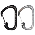 Nite Ize SlideLock Carabiner - Stainless Steel with Slide-to-Lock Design - #4 - Black (CSL4-01-R6) or Stainless (CSL4-11-R6)