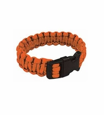 Ultimate Survival Technologies Survival Bracelet - 7-inch Wrist Band with Nylon Buckle - 8 Feet of Paracord - Orange (20-295B7-35)