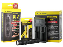 Nitecore P12 2015 Edition Flashlight Combo - CREE XM-L2 (U2) LED - 1000 Lumens - With Battery and Charger