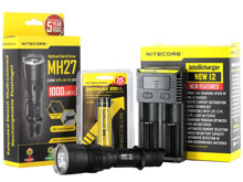 BUNDLE: Nitecore MH27 Rechargeable Flashlight Combo - CREE XP-L HI V3 LED - 1000 Lumens - with Battery and Charger
