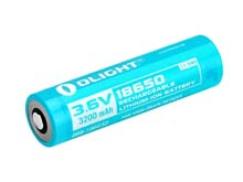 Olight 186C32 18650 3200mAh 3.6V Protected Lithium Ion (Li-ion) Button Top Battery for the S30R II, S2R and S2R II