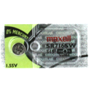 Maxell SR716SW 315 22mAh 1.55V Silver Oxide Button Cell Battery - Hologram Packaging - 1 Piece Tear Strip, Sold Individually