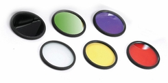 Xenide Colored Filters - Fits AEX20, AEX25 Models - Set of 6: Infrared, Amber, Blue, Diffuser, Green and Red